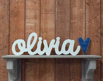 Olivia Custom Wooden Name Sign - Nursery - Baby Name - Wedding - Shower Gift - Baby Name Sign, Kid's room decor, Nursery Nesting