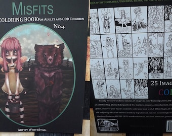 FAIRY Coloring book Misfits fantasy lowbrow art big eye girls Vol 4 - Adult colouring