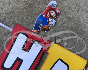 Super Mario Brothers Banner, Customizable wording