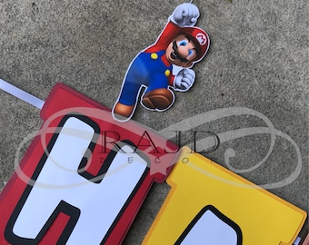 Super Mario Brothers Banner, Customizable wording