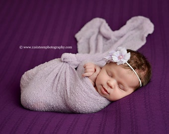 Orchid Purple Stretch Knit Wrap Newborn Photography Prop