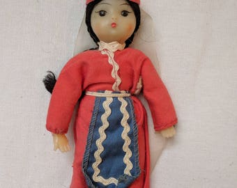 1940s Plastic Doll - Japanese Girl