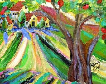 Landscape Original painting canvas art 18 x 24 art by Elaine Cory