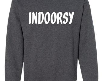 Indoorsy, Indoorsy Sweat, Sweat confortable, besoin de sieste, tous les jours, chemise de sieste, chemise de sommeil, tumblr, vêtements de nuit, la sieste d'usure, cadeau pour elle