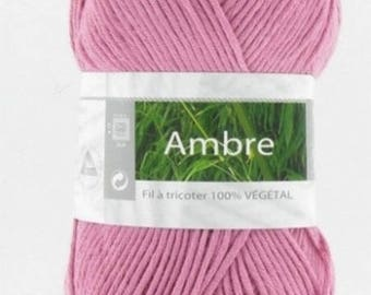 wire natural bamboo and cotton No. 056 amber old pink color