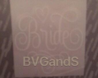 Bride-Wedding Gift Box/Bag Decal