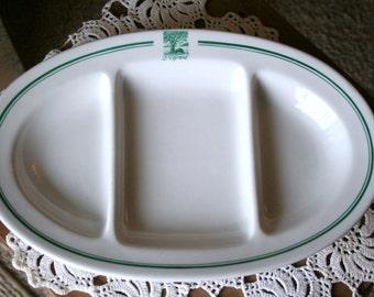 Vintage German Bauscher Weiden Bavaria Divided Serving Platter/Plate