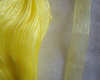 Organza Ribbon, yellow (O-016)