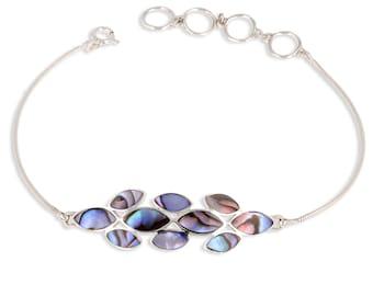 Women petal Pearl abalone bracelet