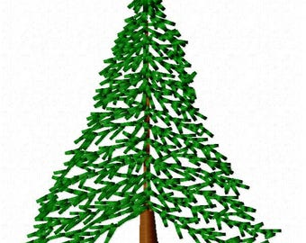 Hemlock Tree Machine Embroidery Design - Instant Download