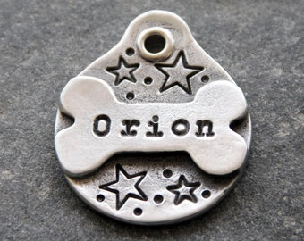 Star Dog Tag Star Dog ID Tag Star Pet Tag for Dog Unique Dog Tag for Collar Personalized Dog Tag Hand Stamped Dog Tag