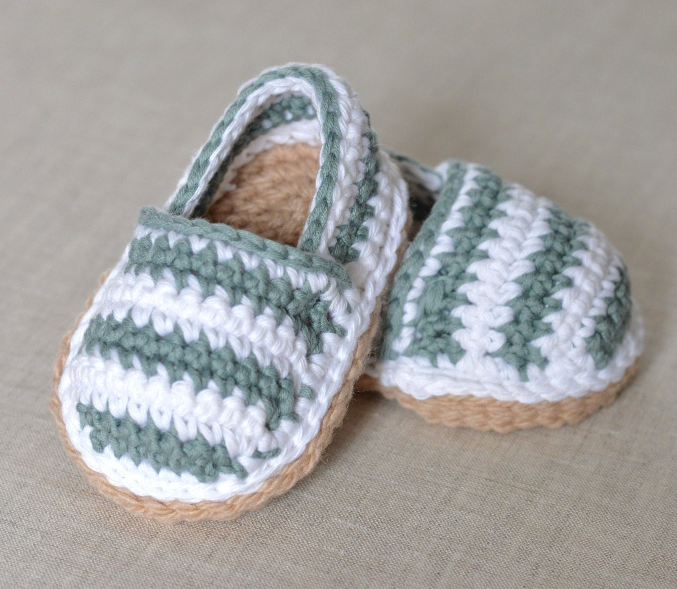 CROCHET Pattern Baby Shoes Espadrilles American and UK terms in ...