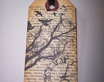 Birds, Tree and Time Tags set of 3