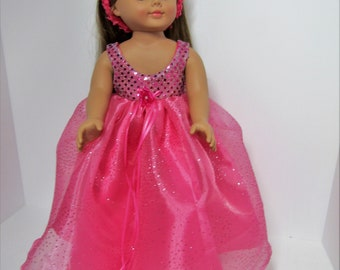 """AMERICAN GIRL pink gown. Fits most 18"""" dolls"""