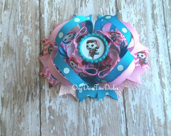 Sheriff Callie inspired stacked hair bow clip