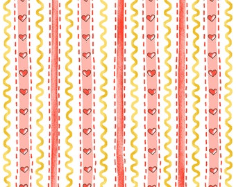 Wallpaper Stripe - Pink 6725-22 by Henry Glass Cotton Fabric Yardage