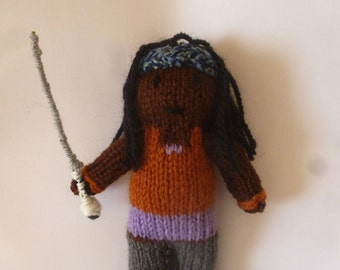 Michonne knitted doll (The Walking Dead)