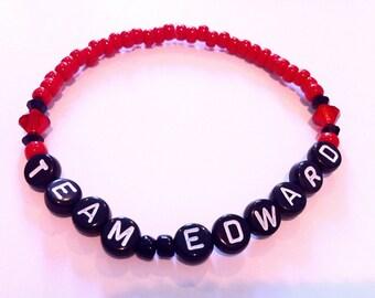 TEAM EDWARD (Twilight) Beaded Bracelet