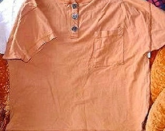 Simpatico Sportswear Burn't Orange T Shirt Size L