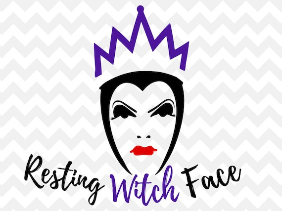 resting witch face SVG disney SVG halloween halloween svg