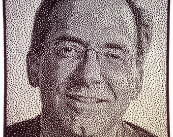 Custom knitted portrait from your photo