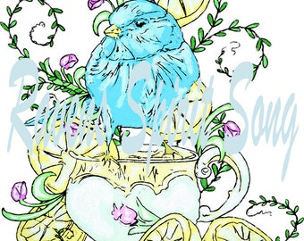 Tea for Two digital stamp