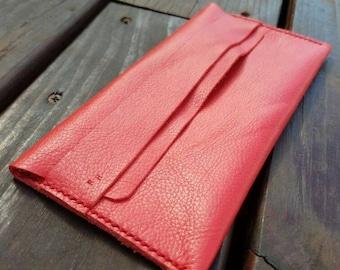 Red minimalist women's wallet