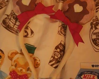 Bear ears pancake applique set