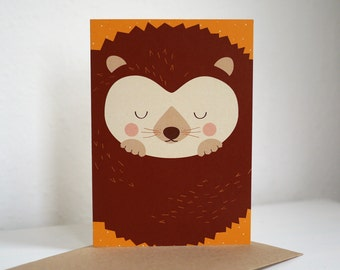 Greeting card greeting card HEDGEHOG
