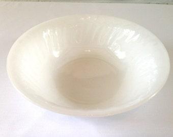 Fire King White Swirl Vegetable Bowl