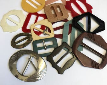 Group of Vintage Buckles
