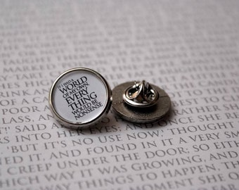 If i had a world of my own - Pin Badge