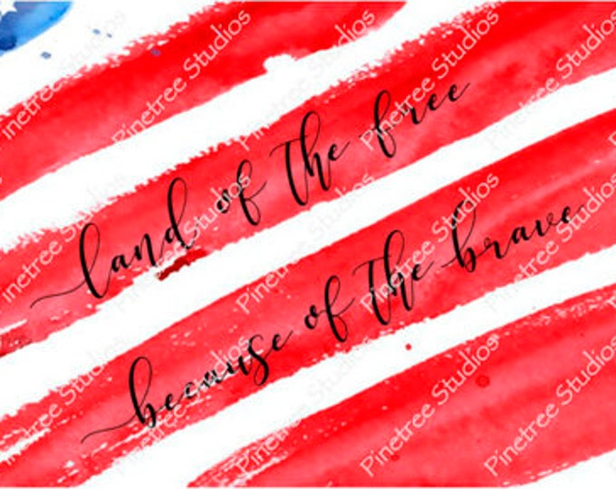 Land of the Free ~ Sublimation Artwork for Mugs / Digital Download Only