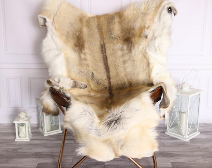Reindeer Hide   Reindeer Rug   Reindeer Skin   Throw Large  -XXXL GIANT Scandinavian Style #BRE9