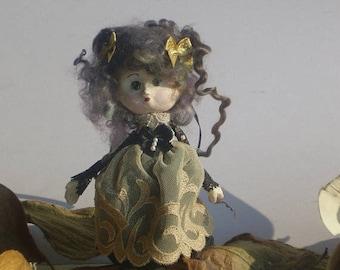 OOAK Art Doll Doll-Brooch Natty