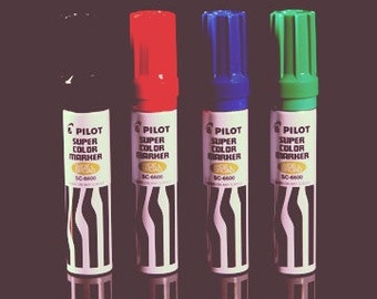 Pilot Super Color Jumbo Marker (xylene free)