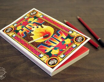 HOT 'Match Book' | Note Book | Plain Paper | 112 Pages | Indian Pop Art Stationery Sketchbook Matchbox Unique Cultural Gift