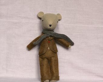 Terry Bear - Handmade Felt Bear - Stuffed Bear