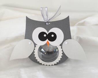 Christmas OWL ball transparent - packaging for teachers, teacher Christmas gift and new year