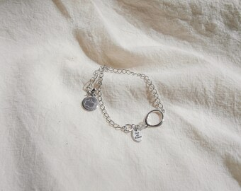 melt&float_Silver Circle Bracelet
