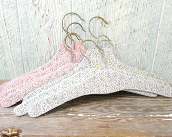Vintage Clothes Hanger, Wood Coat Hanger, Upcycled Vintage, Wedding Hanger, Bridesmaid Dress Hanger, Vintage Wedding, Boutique Display