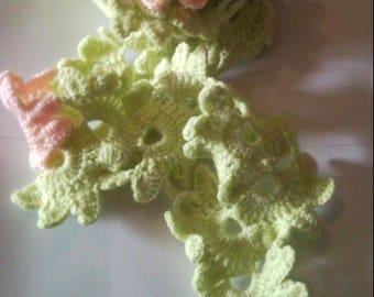 Crochet cotton scarf, scarf for women crochet 2 vintage