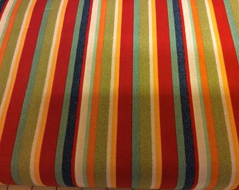 Striped Fabric / Boys / Primary Color Stripes / Coordinating Fabric / On Our Way  / Sewing Fabric / Quilting Fabric / by Riley Blake / C1423