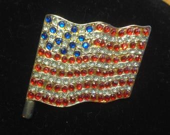 Antique/Vintage United States - AMERICAN FLAG - Patriotic Brooch / Pin
