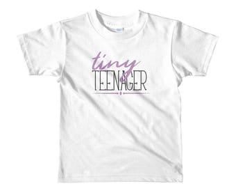 Tiny teenager girl jersey tee