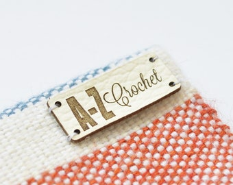 Leather labels, personalized leather label, custom leather tags, knitting tags, leather tags, custom logo tag, knitting labels