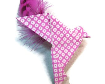 """""""Dove"""" Origami brooch - feather"""