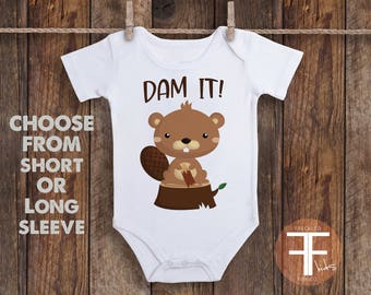 Woodland Animal Onesie ®, Funny Onesie, Funny Onesies For Baby, Baby Onesie, Onesie for Boys, Onesie for Girls, Baby Shower Gift Idea