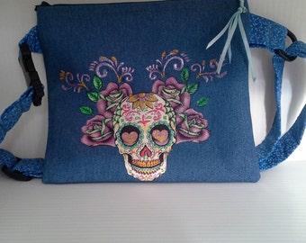 Sugar Skull roses fanny pack