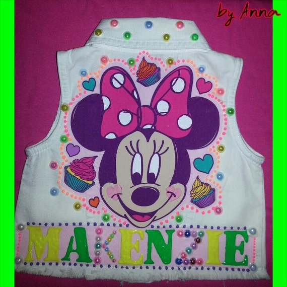 Minnie Mouse Vest Birthday Vest Minnie Mouse Outfit First